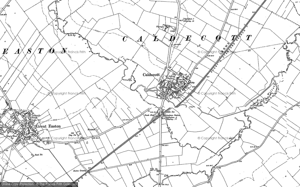 Old Map of Caldecott, 1899 - 1902 in 1899