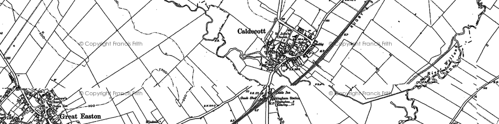 Old map of Caldecott in 1899