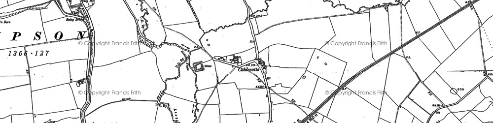 Old map of Fenny Stratford in 1900
