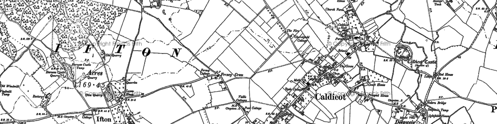 Old map of Caldicot in 1900