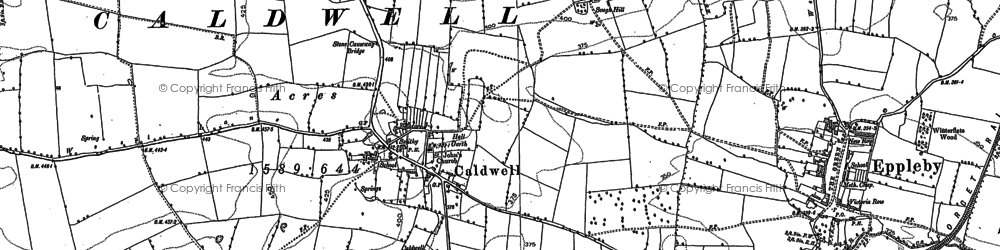 Old map of Caldwell in 1912