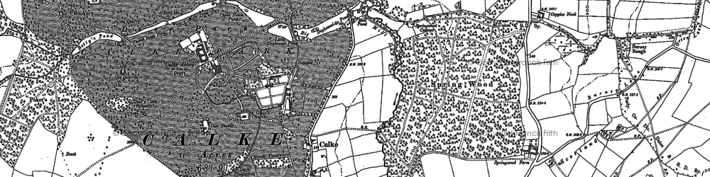 Old map of Wicket Nook in 1881