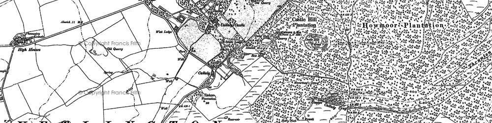 Old map of Yetlington Lane in 1896