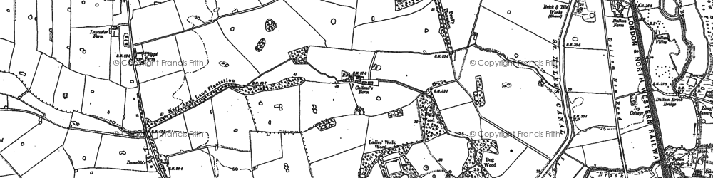 Old map of Dallam in 1891