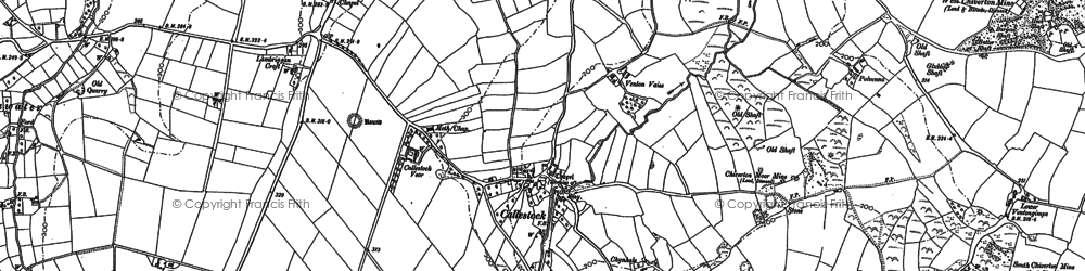Old map of Callestick in 1886