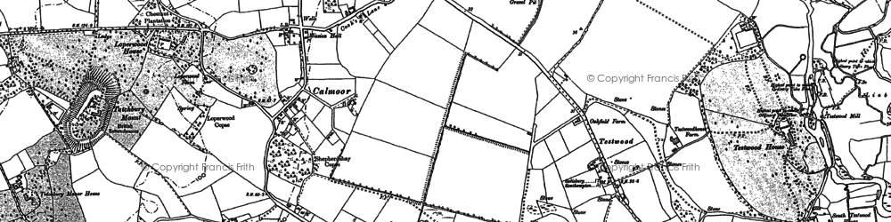Old map of Calmore in 1896