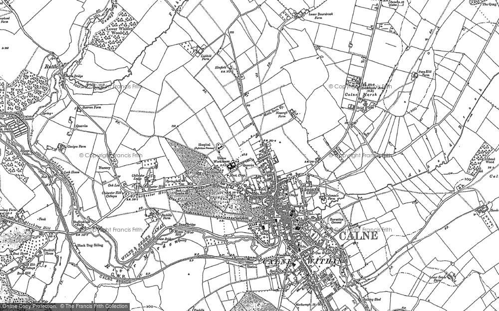 Map of Calne, 1899