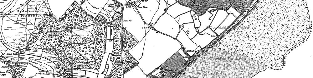 Old map of Calshot in 1895