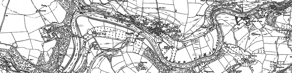 Old map of Calstock in 1905