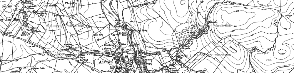 Old map of Calton in 1907