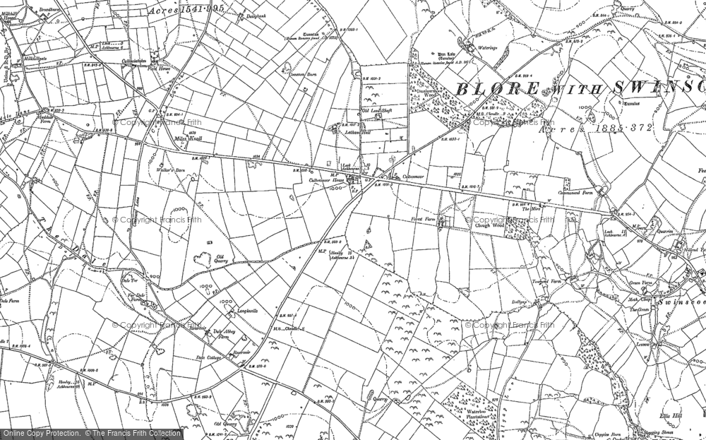 Old Map of Caltonmoor Ho, 1898 in 1898