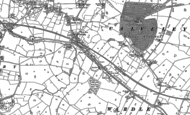 Old Map of Calveley, 1897