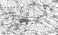 Old Map of Calverleigh, 1887 - 1888