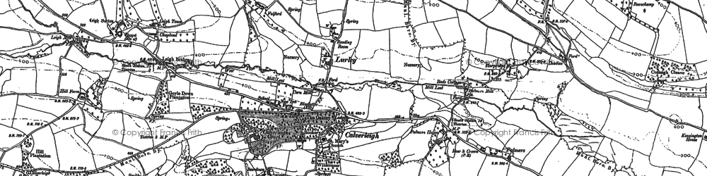 Old map of Leigh Barton in 1887