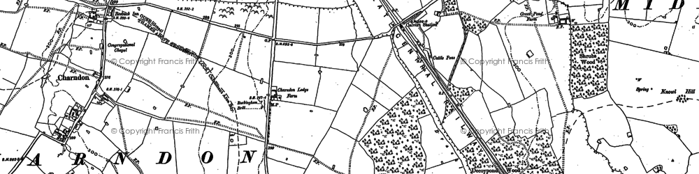 Old map of Calvert in 1898