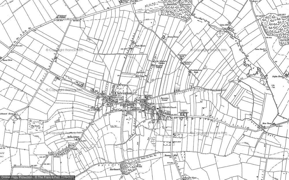 Old Map of Historic Map covering Abbey House in 1883