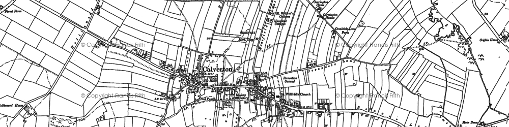 Old map of Abbey House in 1883