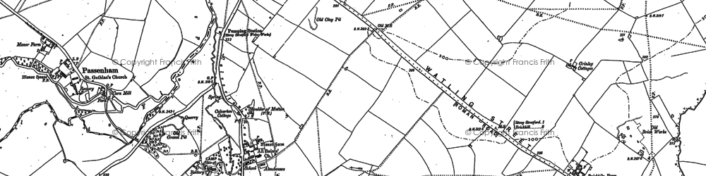 Old map of Calverton in 1898
