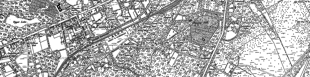 Old map of Crawley Hill in 1913