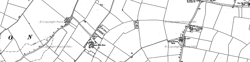 Old map of Cambourne in 1886