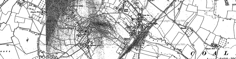 Old map of Draycott in 1879