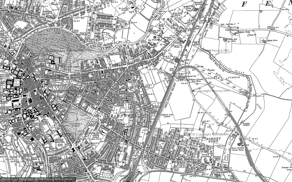 Old Maps of Cambridge Francis Frith
