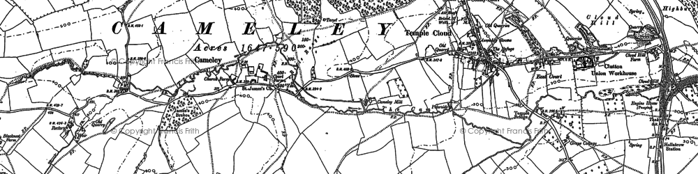 Old map of Cameley in 1883
