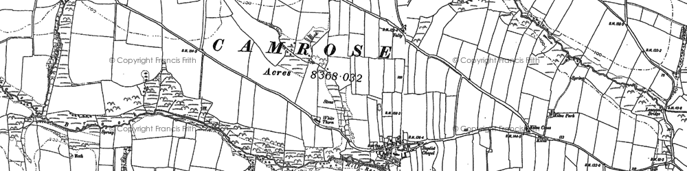 Old map of Camrose in 1887