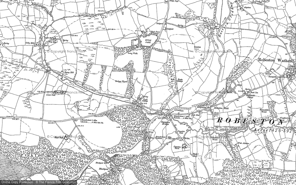 Old Map of Historic Map covering Atheston in 1887