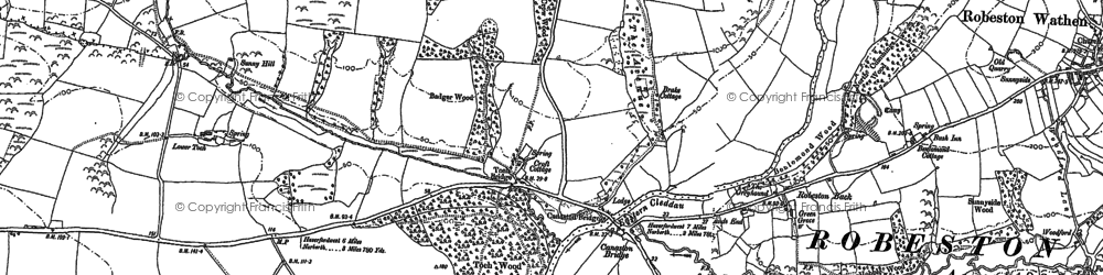 Old map of Atheston in 1887