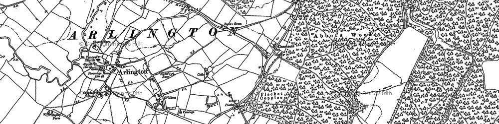 Old map of Abbot's Wood in 1898