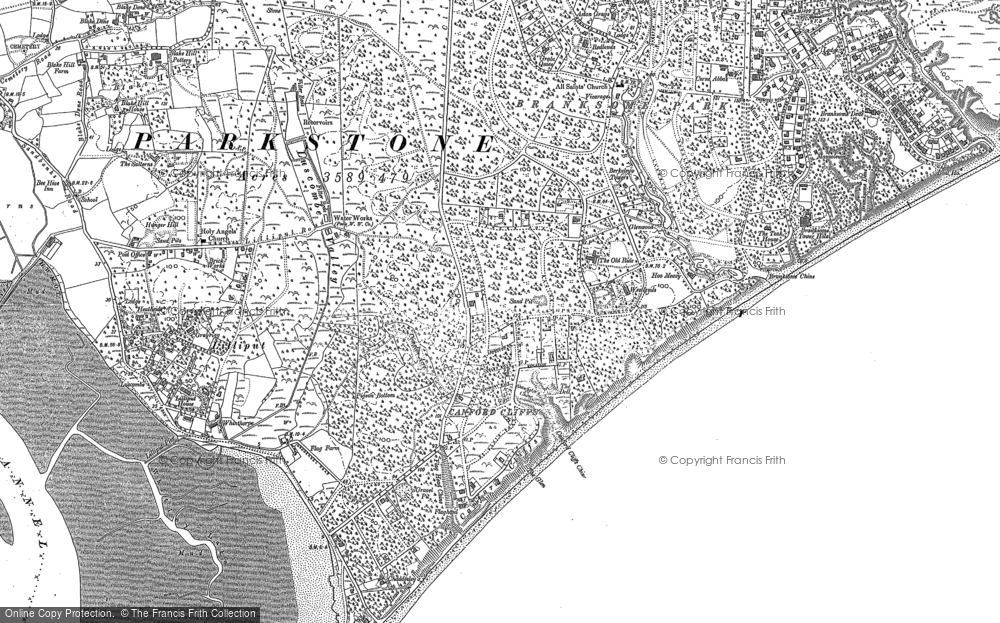 Old Map of Historic Map covering Lilliput in 1889