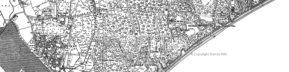 Old map of Lilliput in 1889