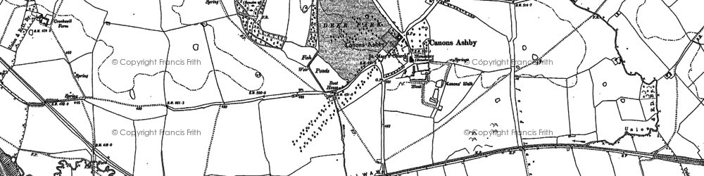 Old map of Ashby Gorse in 1883