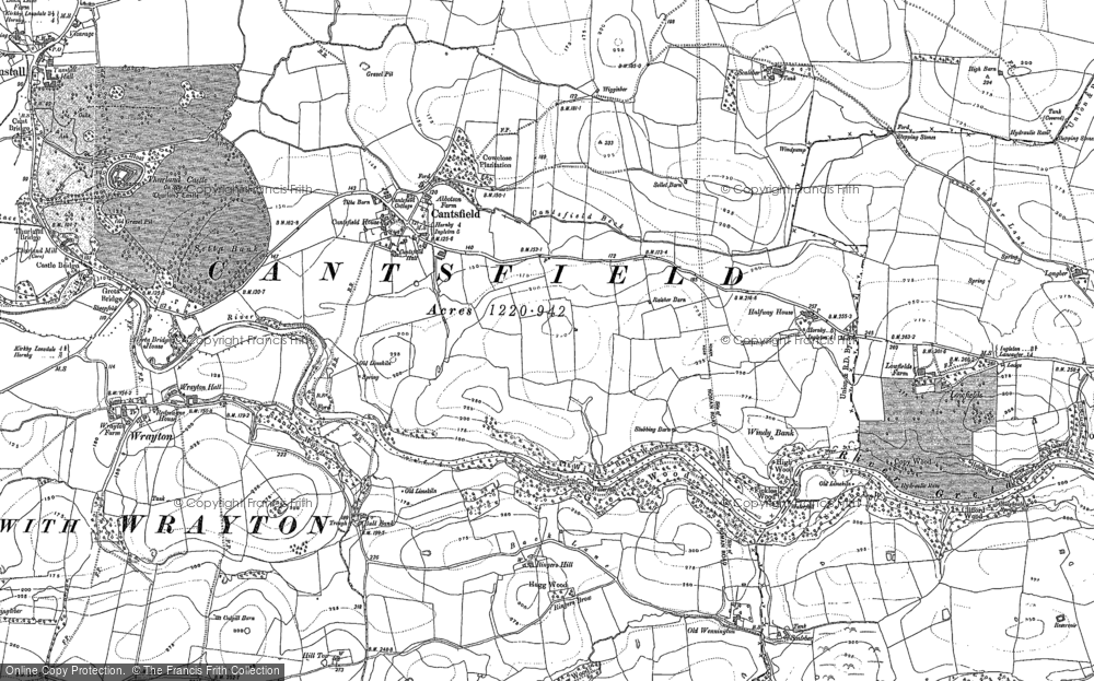 Old Map of Cantsfield, 1910 in 1910