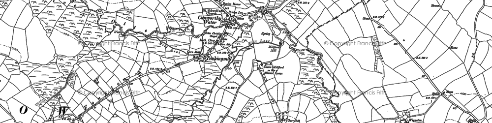 Old map of Fonston in 1882