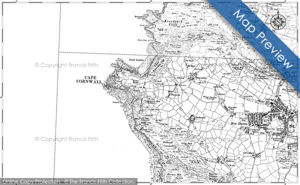 Historic map of Brisons, The
