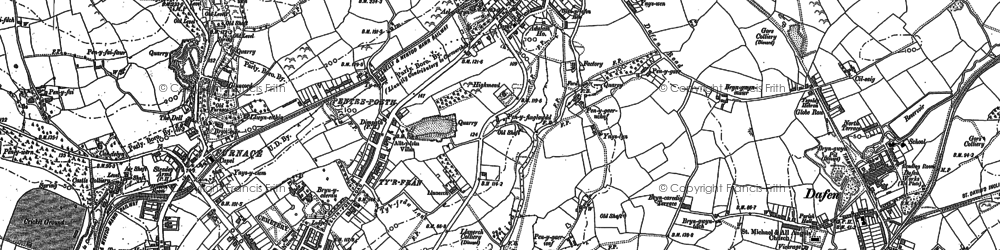 Old map of Capel in 1905