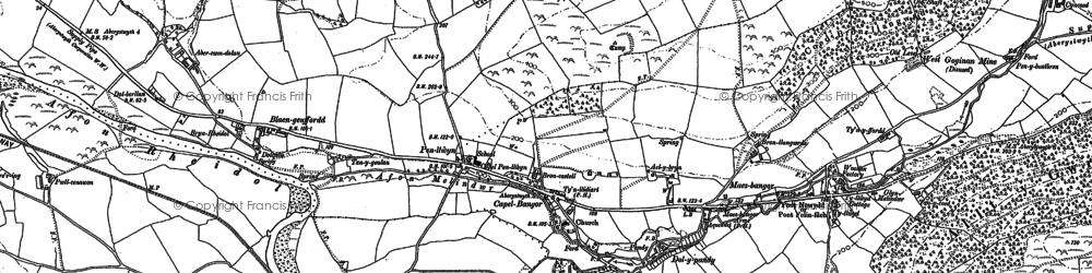 Old map of Ysgubornewydd in 1886