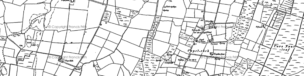 Old map of Ynys Fawr in 1887