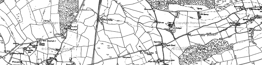 Old map of Allt Dderw in 1904