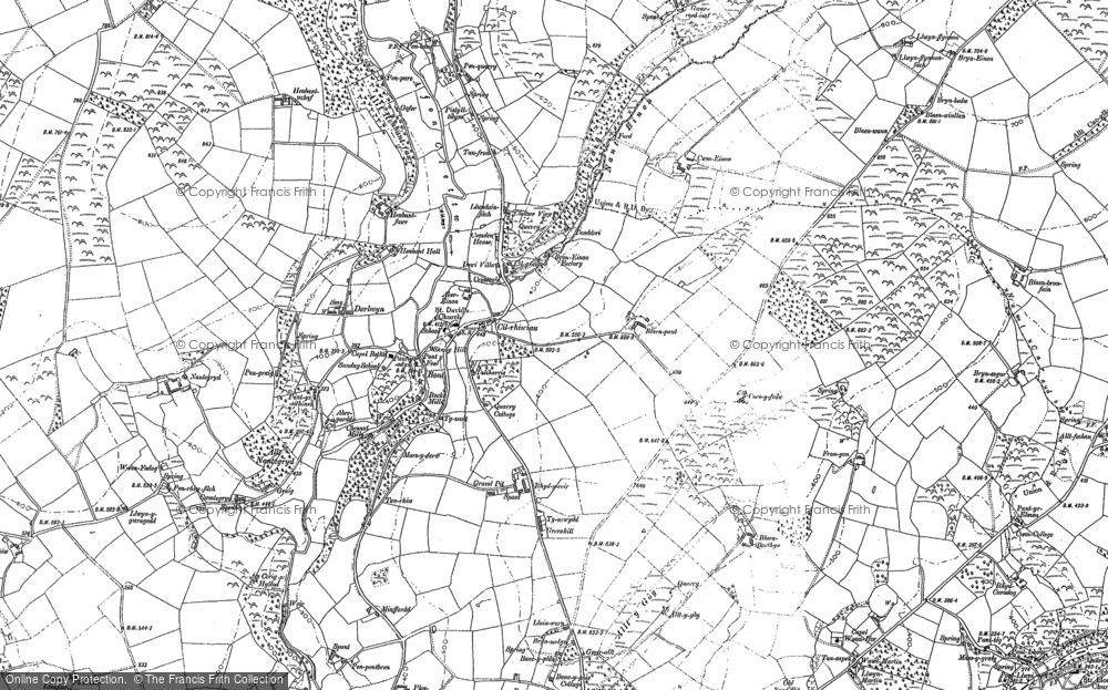 Old Map of Historic Map covering Afon Clettwr in 1904