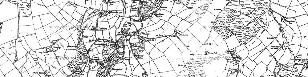 Old map of Afon Clettwr in 1904