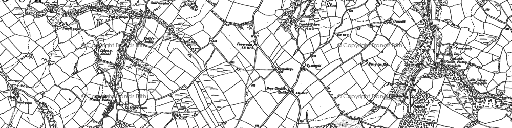 Old map of Afon Swadde in 1885