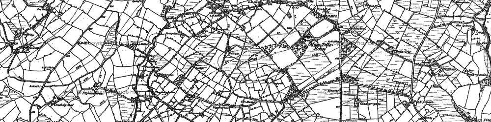 Old map of Capel Isaac in 1885