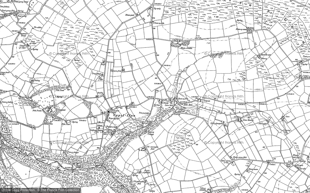 Old Map of Historic Map covering Afon Mamog in 1887
