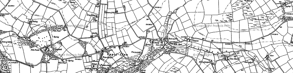 Old map of Capel Iwan in 1887