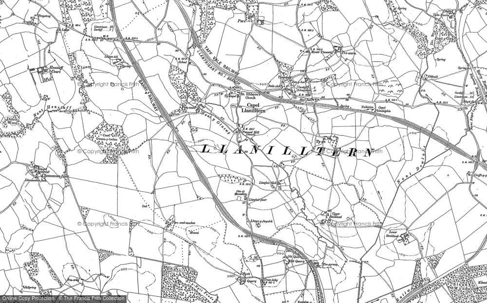 Old Map of Capel Llanilltern, 1897 in 1897