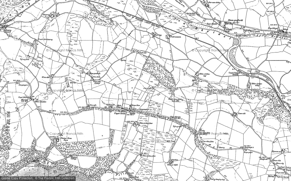 Old Map of Historic Map covering Gilfach goch in 1904