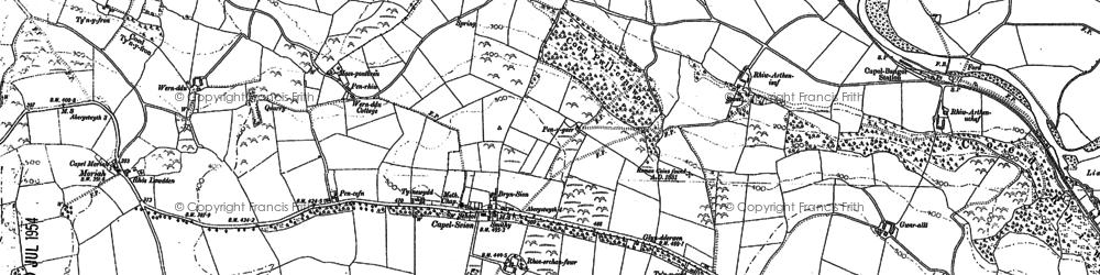 Old map of Gilfach goch in 1904